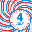 Abstract background retro on July 4 — Imagen vectorial