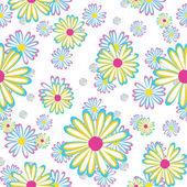 花ヒナギクとのシームレスなパターン — ストックベクタ