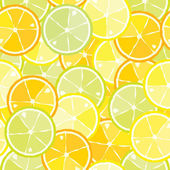 Seamless pattern of citrus — Stock Vector