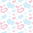Seamless pattern of the heart — Stock Vector
