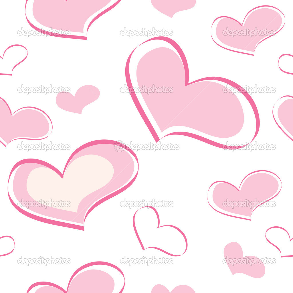 Seamless pattern of the heart  Stock Vector #9854767