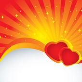 Vector abstract background with heart — Stock Vector
