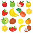 Vector fruit — Stock Vector