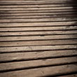Wood bridge close up — Stock Photo
