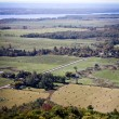 Aerial view from above over rural landscape — Stock Photo