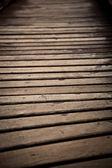 Cerrar el puente de madera — Foto de Stock