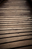 Holz brücke hautnah — Stockfoto
