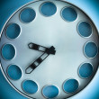 Big Blue Clock — Stock Photo
