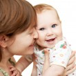 Portrait of cheerful mother and baby girl — Stock Photo #8886825
