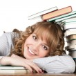 Graceful female student with books — Stock Photo