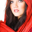 Portrait of sexy caucasian young woman with headscarf isolated — Stock Photo #8888221