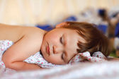 Portrait of adorable sleeping baby — Stock Photo