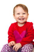 A beautiful smiling baby isolated — Stock Photo