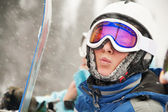 A health lifestyle image of young snowboarder — Stock Photo