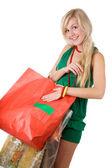 Shopping beauty girl — Stock Photo