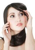 Young beautiful female portrait — Stock Photo