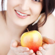 Picture of lovely woman with apple — Stock Photo #8911789