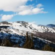 Russia ski resort Sheregesh. Siberia - Stock Photo