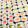 Japanese sushi , traditional japanese food -  