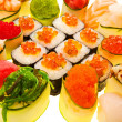 Sushi with red caviar. Closeup — Stock Photo