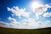 Beautiful blue sky landscape — Stock Photo