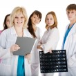 Group of young doctors isolated — Stock Photo