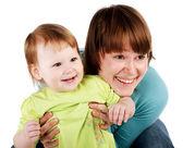 Obraz szczęśliwy matki z dzieckiem — Zdjęcie stockowe
