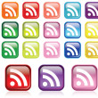 RSS Icon set — Stock Vector