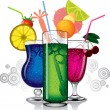 Cocktail mix vector — Stock Vector #9300386