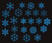 Snowflakes - vector — Stock Vector