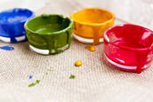 Cases with paints — Stock Photo