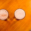 Two beer glasses, high angle of view — Stock Photo #8089285