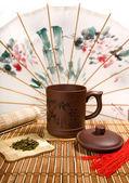Tè morta con cinese può — Foto Stock