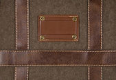 Canvas and leather background — Stock Photo