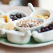 Breakfast with muesli — Stock Photo