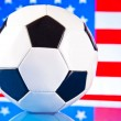 ストック写真: Americsoccer and flag