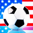 American soccer and flag — Stock Photo #8223898