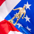 American soccer and flag — Stock Photo #8224875