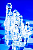Business trategy and chess — Stock Photo