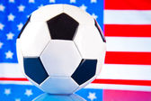 American soccer and flag — Stock Photo
