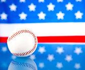 Baseball and american flag — Stock Photo