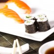 Sushi set for lunch — Stock Photo