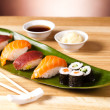 Sushi set for lunch - Stock Photo