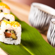 Sushi lunch menu - Stock Photo