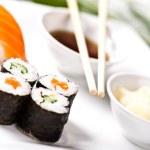Sushi lunch set — Stock Photo