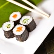 Sushi plate, close-up — Stock Photo