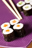 Closeup japanese sushi — Stock Photo
