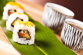 Sushi lunch menu — Stock Photo