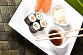 Assortment of Japanese Sushi — Stock Photo