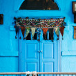 Stock Photo: Blue door